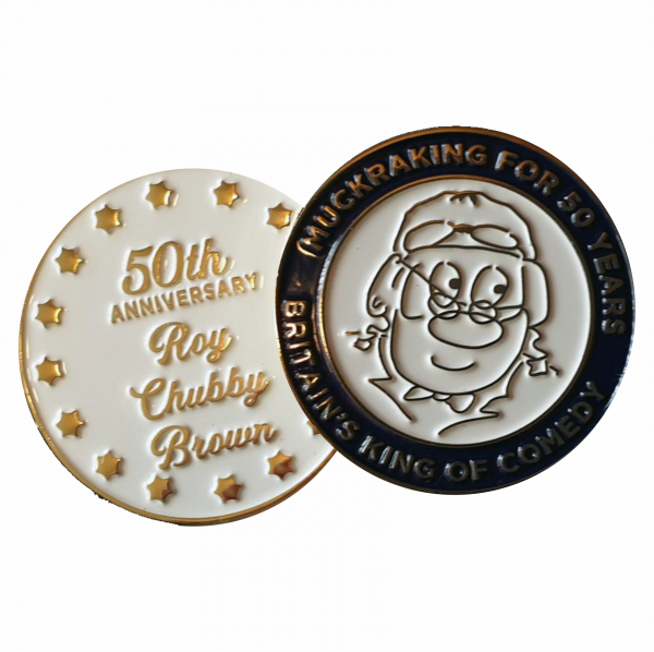 Roy Chubby Brown 50th Anniversary Coin