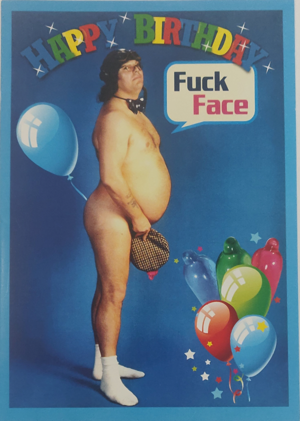 Roy Chubby Brown Happy Birthday Card