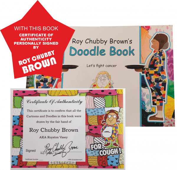 Roy Chubby Browns Doodle Book with Certificate